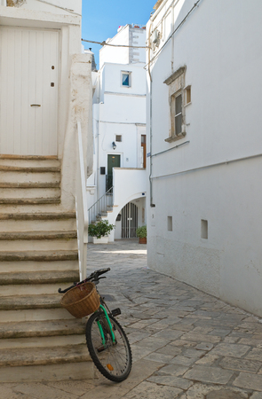 Alleyway. Martina Franca. Puglia. Italy.  Stock Photo
