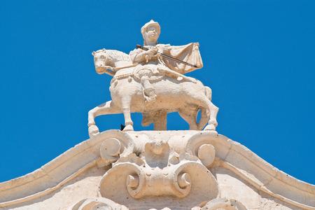 friso: The arch of Santo Stefano. Martina Franca. Puglia. Italy.