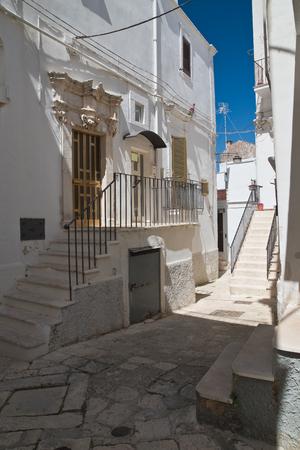 characteristic: Alleyway. Noci. Puglia. Italy.  Stock Photo