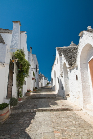 Trulli houses. Alberobello. Puglia. Italy. Stock Photo