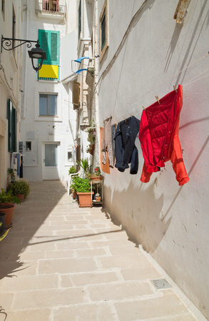 characteristic: Alleyway. Monopoli. Puglia. Italy. Stock Photo