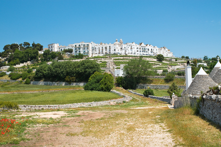 Panoramic view of Locorotondo. Puglia. Italy. Stock fotó - 86577320
