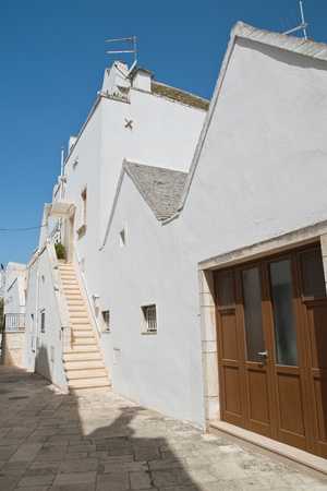 Alleyway. Locorotondo. Puglia. Italy. Stock Photo