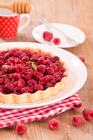 Raspberry tart. Stock Photo