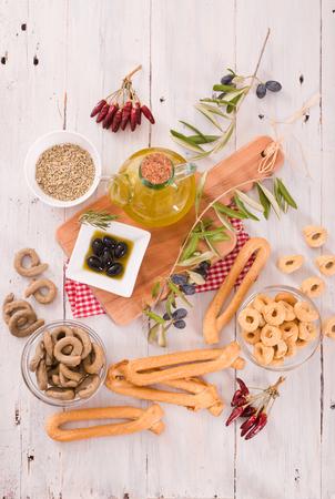 Italian taralli.  Stock Photo