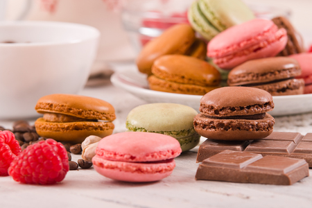 Colorful macarons.  Stock Photo