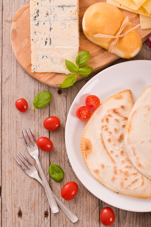 Cascione italian flatbread.  Stock Photo