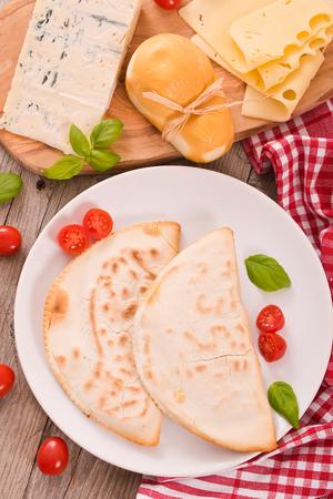 Cascione italian flatbread.  Stock Photo
