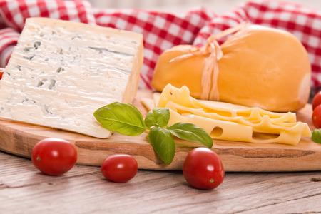 Various type of italian cheeses.