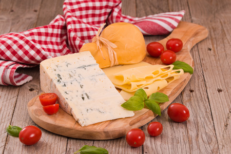 Various type of italian cheeses.