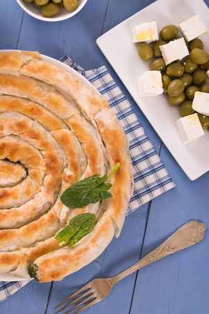 Greek spinach pie.  Banque d'images