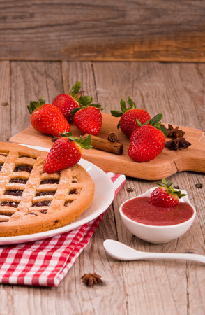 Strawberry Tart.  Stock Photo