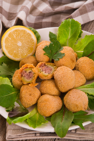 Ascoli stuffed olives. Фото со стока