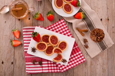 Strawberry tartlets.