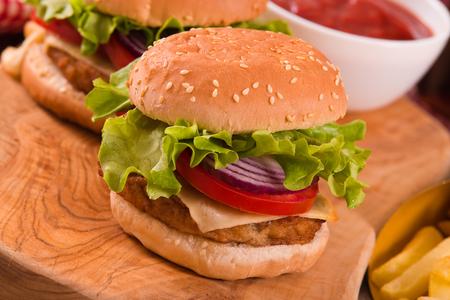 Hamburgers.