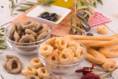 Italian taralli.  Reklamní fotografie