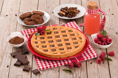 Chocolate tart.