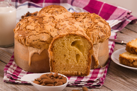 Easter Dove Bread (Colomba Pasquale) Stock Photo