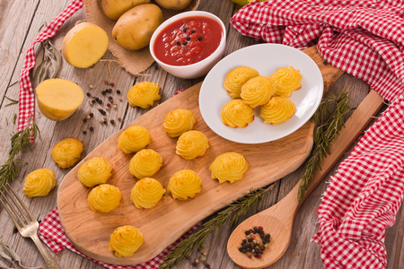 Duchess potatoes. Banco de Imagens