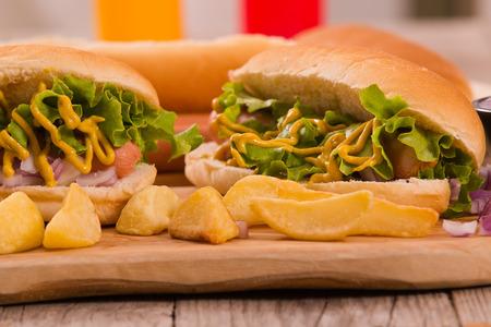 Hot dogs. Standard-Bild
