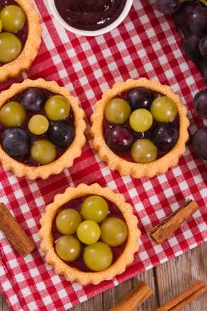 Grape tarts.