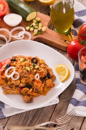 Gyros rice dish.