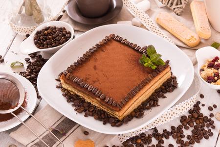 Tiramisu cake. Stok Fotoğraf - 122702642