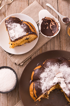 Chocolate coconut cake.