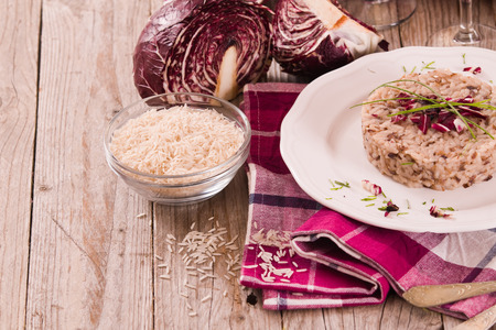 Risotto with red radicchio. 写真素材