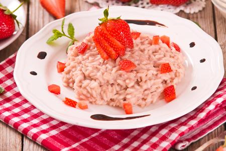 Strawberry risotto. 写真素材