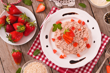 Strawberry risotto. 写真素材