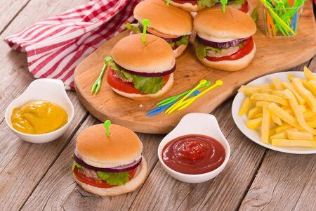 Mini hamburgers.