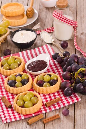 Grape tarts.