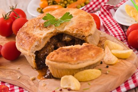 Steak pie.