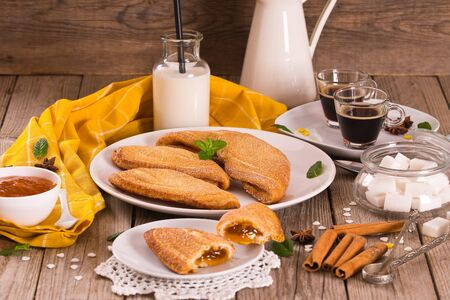 Florentines sweet puff pastries. Stok Fotoğraf