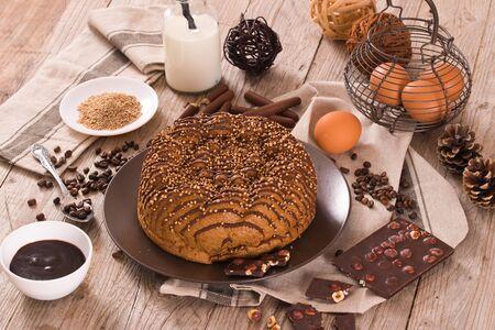 Chocolate coffee cake. 写真素材