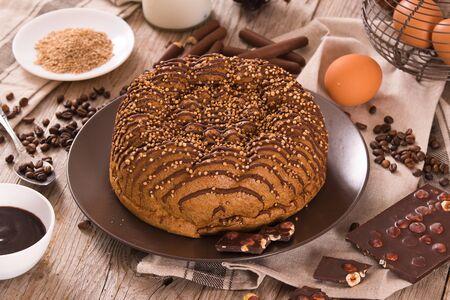 Chocolate coffee cake.