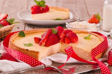 Strawberry cheesecake.