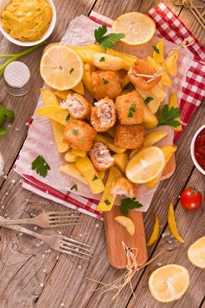 Fish and chips. Stock fotó