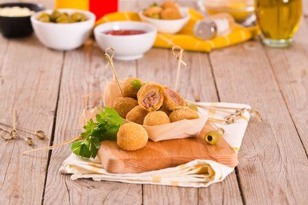 Ascoli stuffed olives. Stock Photo