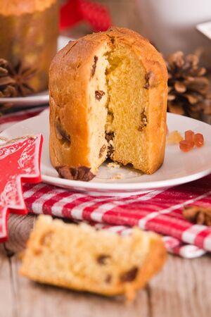 Panettone, italian christmas cake.