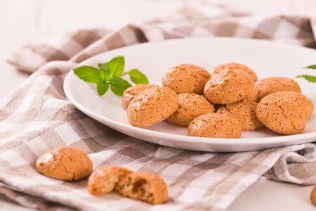 Amaretti cookies. Archivio Fotografico