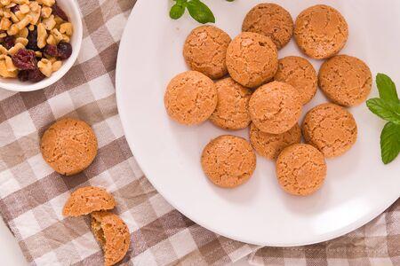 Amaretti cookies. 写真素材