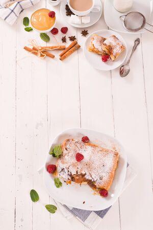Bougatsa - Greek puff pastry with cream. Reklamní fotografie