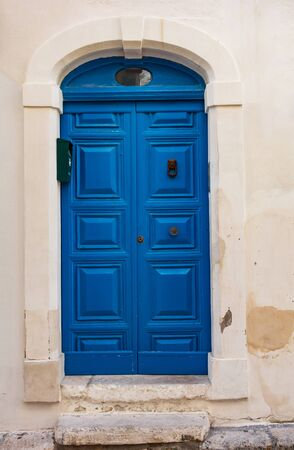 Wooden door. Monopoli. Puglia. Italy.