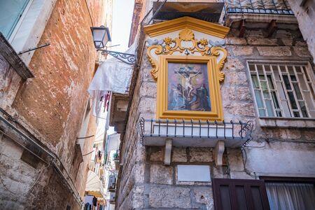 Votive aedicule. Bari. Puglia. Italy.