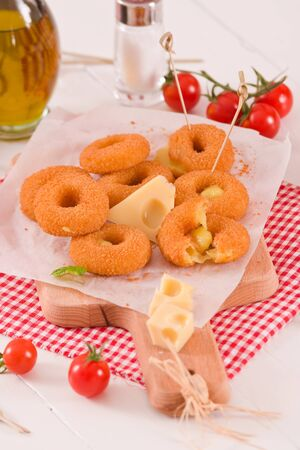 Fried cheese ring.