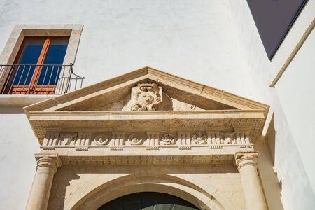 Civic library palace of Monopoli. Puglia. Italy.
