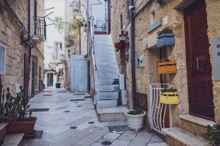 Alleyway of Polignano. Puglia. Italy. Editorial