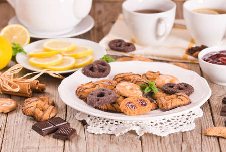 Shortcrust pastry biscuits. Imagens